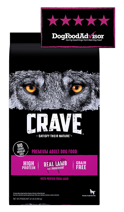 CRAVE real lamb adult dog food, rated 5 out of 5 by DogFoodAdvisor