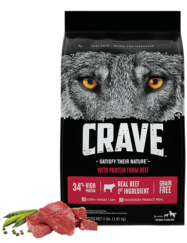 Adult Dry Dog Food with Protein from Beef | CRAVE™