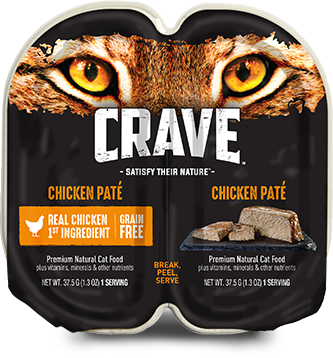 Chicken Pate High Protein Wet Cat Food Crave