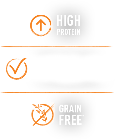 high in protein, quality protein, grain free